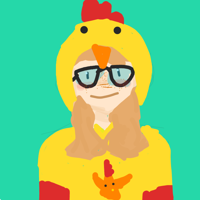 Profile picture for the comic artist, Chicken