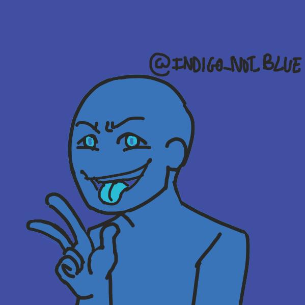 Profile picture for the comic artist, Indigonotblue