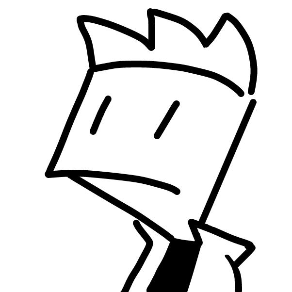 Profile picture for the comic artist, 🔲
