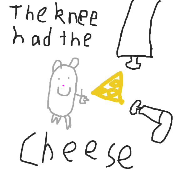 Cheese is outside the knees - Online Drawing Game Comic Strip Panel by JThePilot