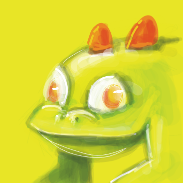 First panel in reptile drawn in our free online drawing game