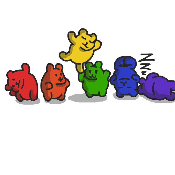 Drawing in Pride Bears by xavvypls