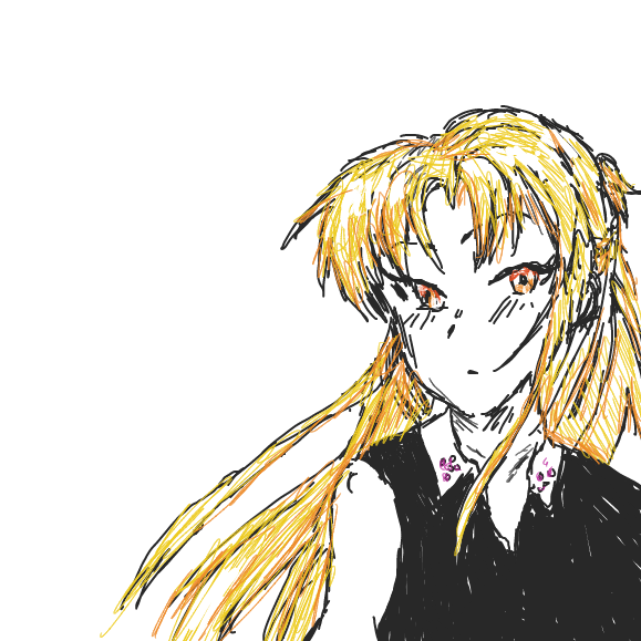 First panel in Asuna Yuuki <3 drawn in our free online drawing game