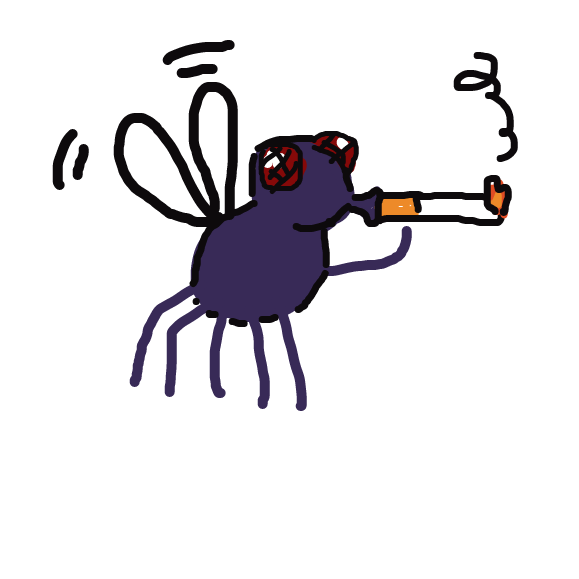 Drawing in fly smoking by Deduraptor