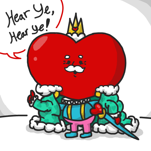 Drawing in The King of Hearts by xavvypls