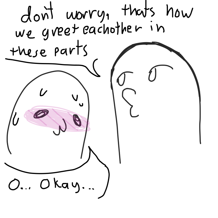 Foreign greeting??? Maybe??? - Online Drawing Game Comic Strip Panel by KringlePringles