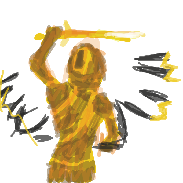 First panel in D2 dawnblade drawn in our free online drawing game