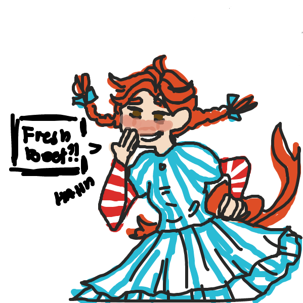 First panel in Wendy the savage drawn in our free online drawing game