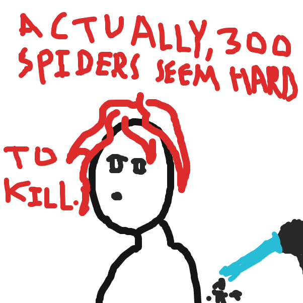 A random bystander states her opinion to Godzilla - Online Drawing Game Comic Strip Panel by HiveMind