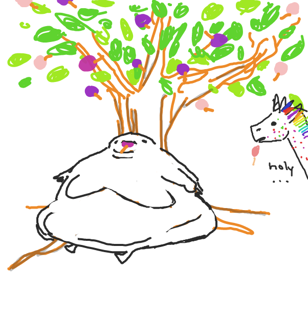 Drawing in Lollipop tree  by ironically horny