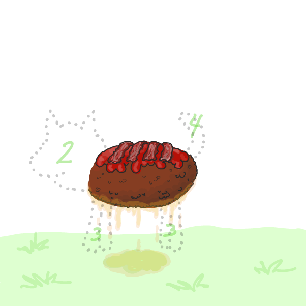 First you need a greasy meatloaf. Doggos fekken love meatloaf. - Online Drawing Game Comic Strip Panel by WizardCroissant