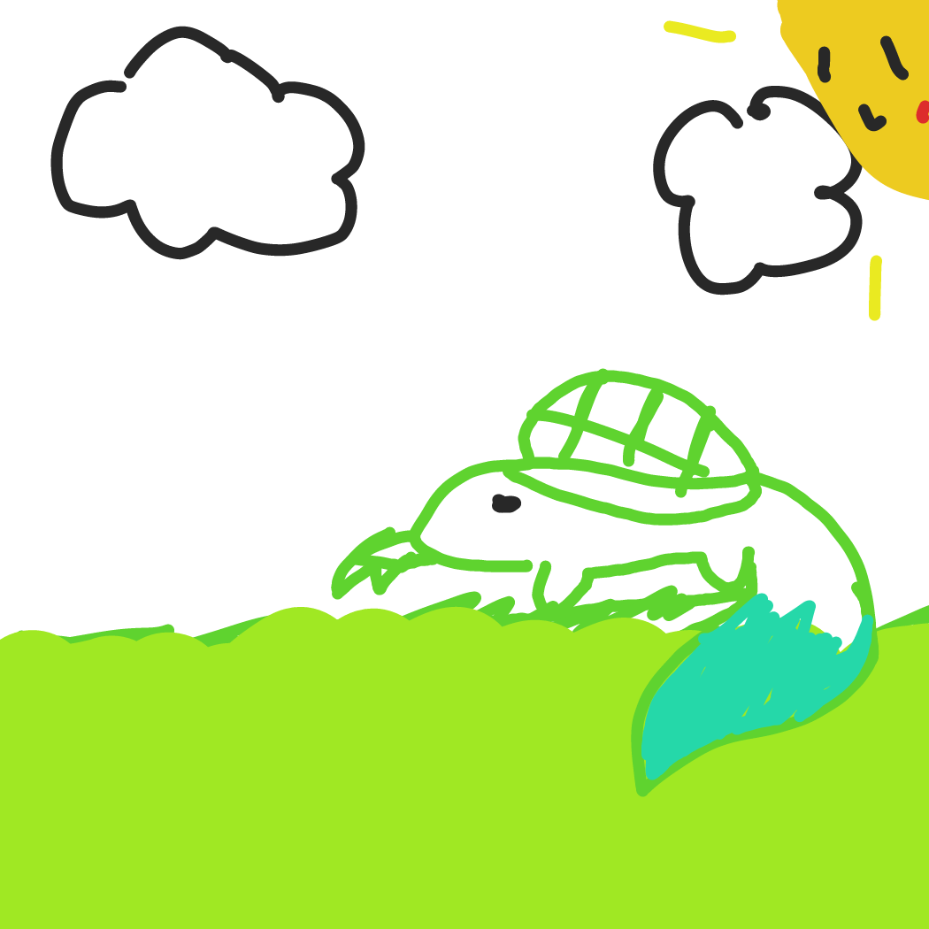 First panel in Turtle drawn in our free online drawing game