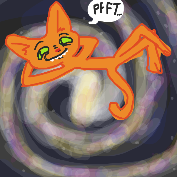 Galaxy Cat the Sass-Master finds this competition amusing. - Online Drawing Game Comic Strip Panel by AM_wizard_shithead