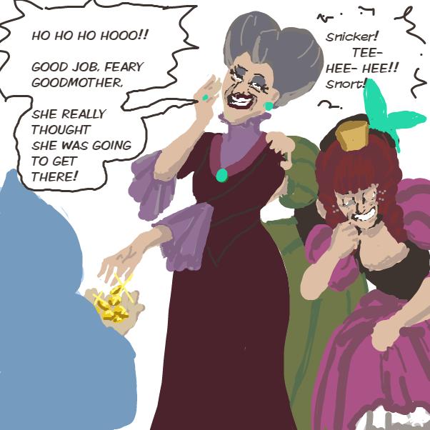Drawing in Cinderella by Ramora