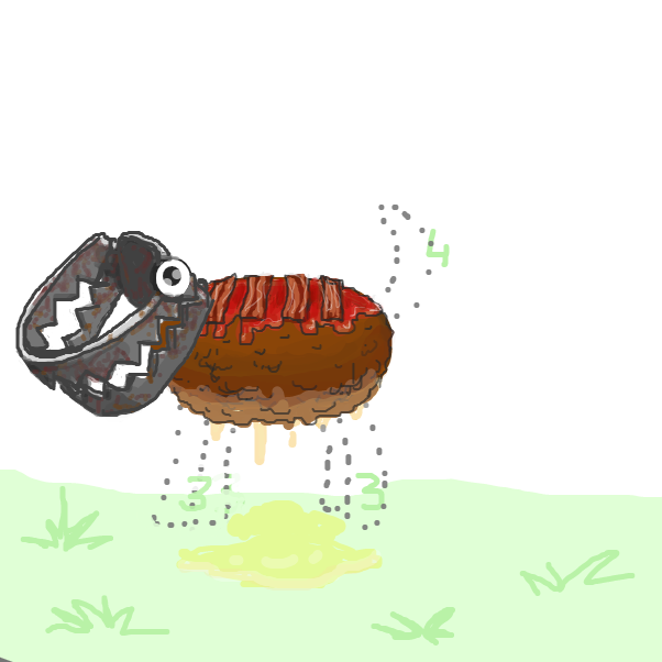 Then you need a rusty bear trap with googely eyes... - Online Drawing Game Comic Strip Panel by Ramora