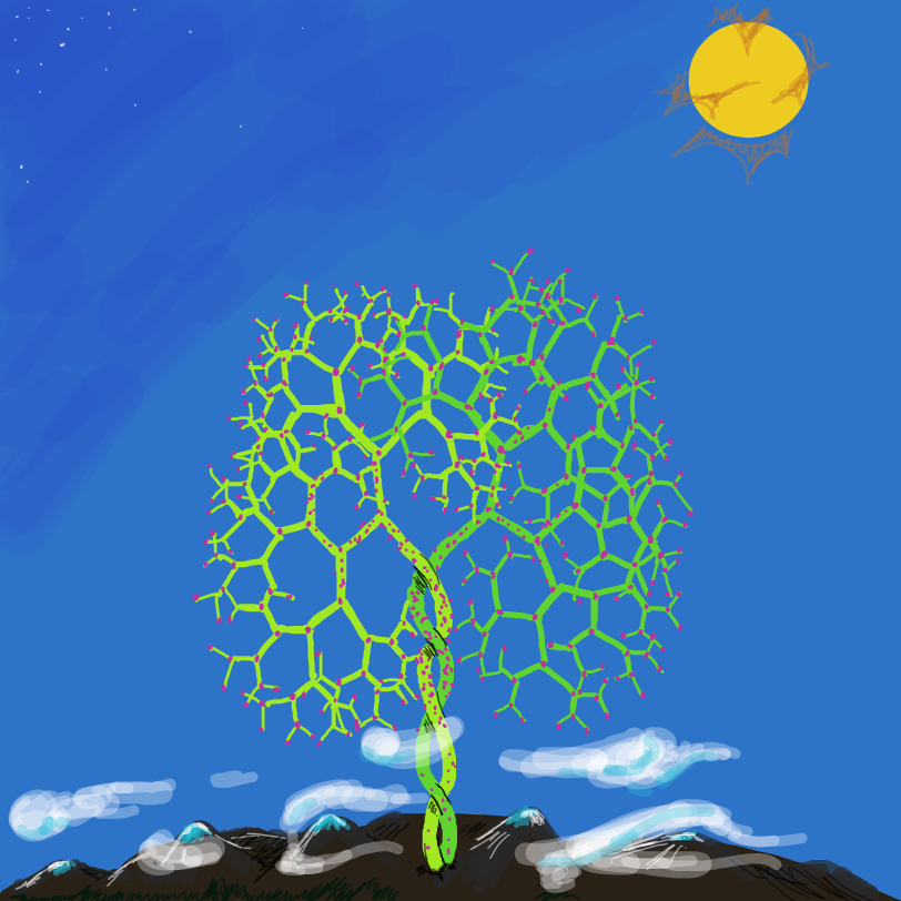 The tree of life is mature now; and its flowers, blooming. - Online Drawing Game Comic Strip Panel by ArelaEstudio