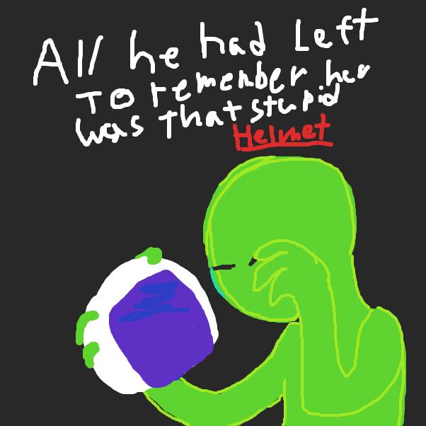 Drawing in Alien by Izzaro21