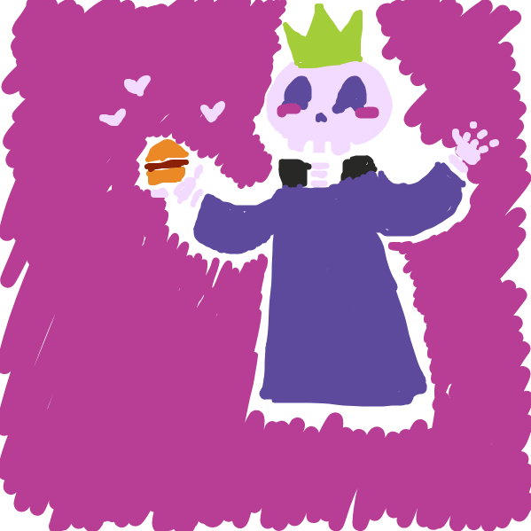 And one day he found love in a burger - Online Drawing Game Comic Strip Panel by xcandyslice