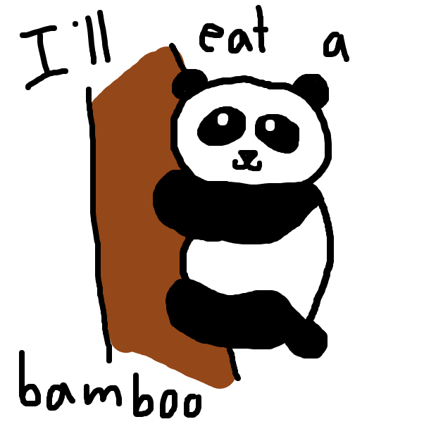 Pedro is a panda that loves bamboo - Online Drawing Game Comic Strip Panel by SteliosPapas