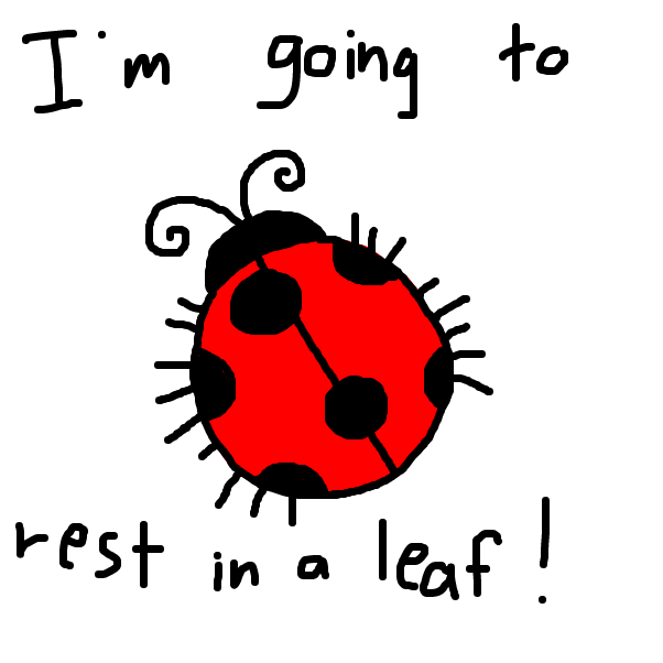 Lucas is a ladybug who loves to sleep - Online Drawing Game Comic Strip Panel by SteliosPapas
