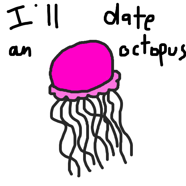 First panel in Jasper Jellyfish drawn in our free online drawing game