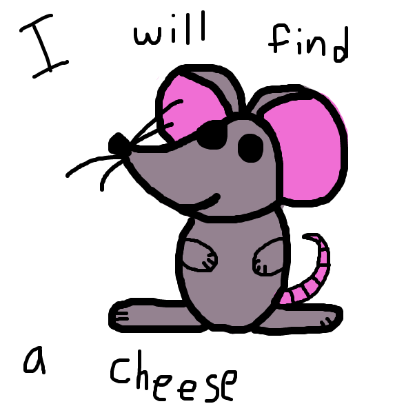 First panel in Marco Mouse drawn in our free online drawing game