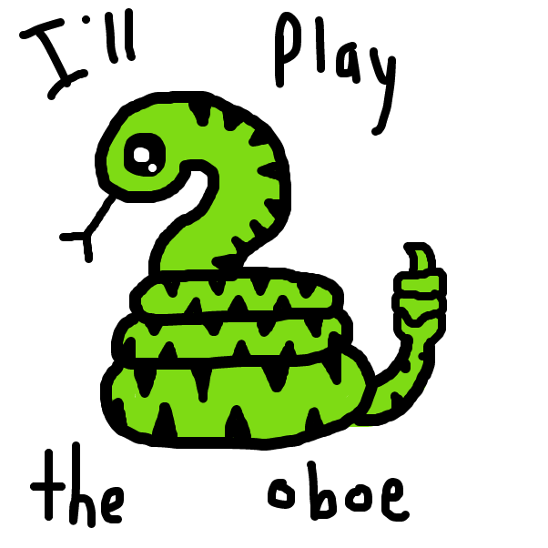 First panel in Sid Snake drawn in our free online drawing game