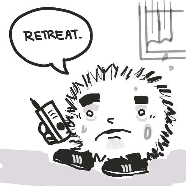 Nah fam - RETREAT RETREAT - Online Drawing Game Comic Strip Panel by Kush