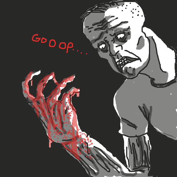 First panel in goop drawn in our free online drawing game
