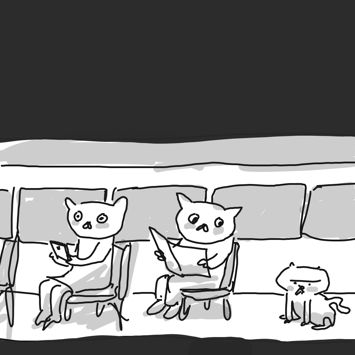 Drawing in Carl Cat by Potato Man