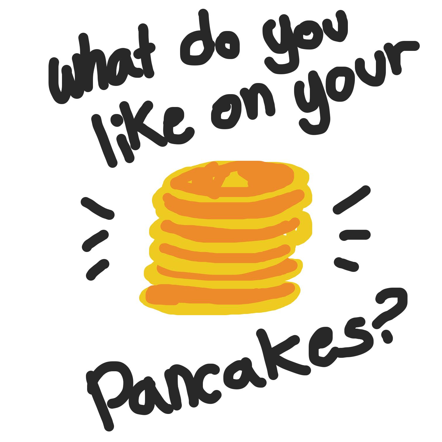 Drawing in Pancakes  by Juleefish