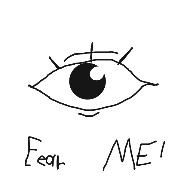 First panel in Eye drawn in our free online drawing game