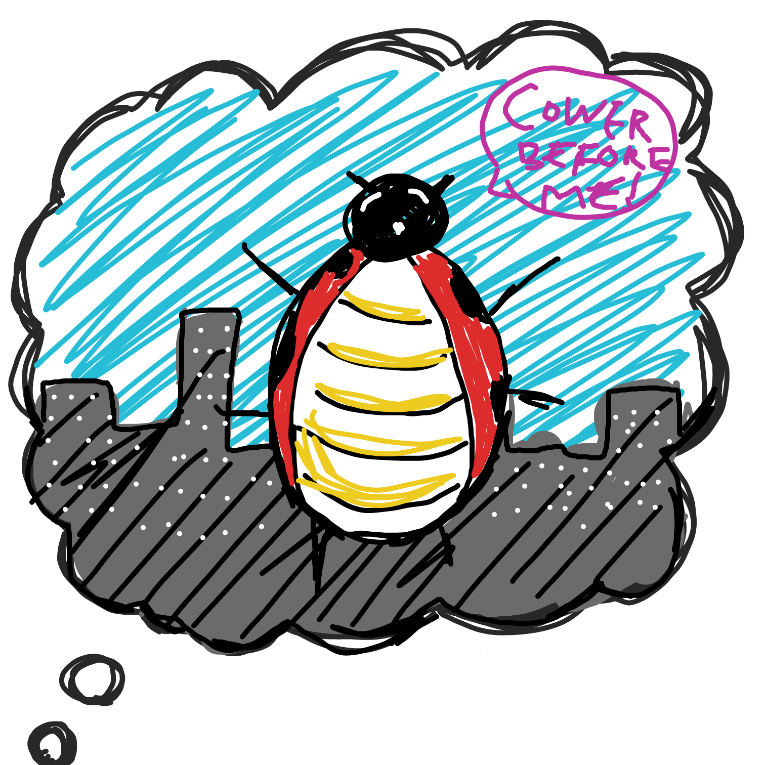 Dreaming Lady Bug - Online Drawing Game Comic Strip Panel by SamSix