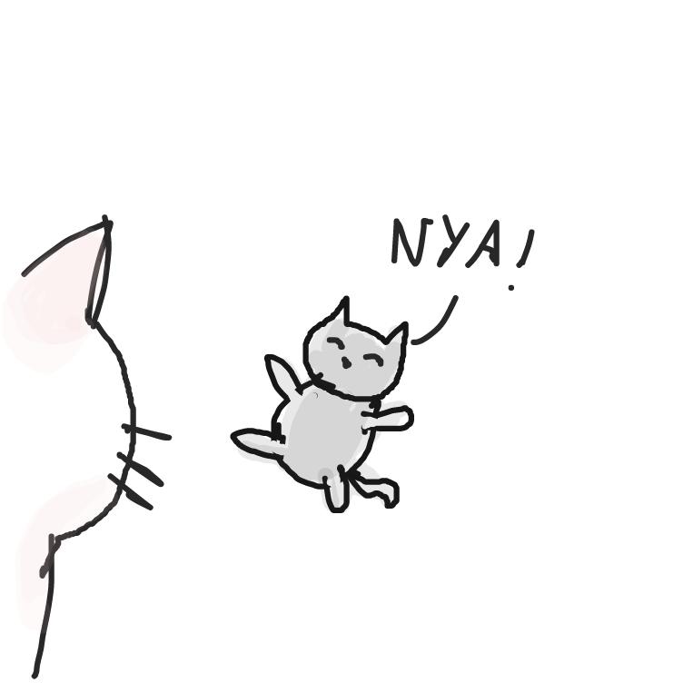 Drawing in Newborn Cat by facelessdrawings