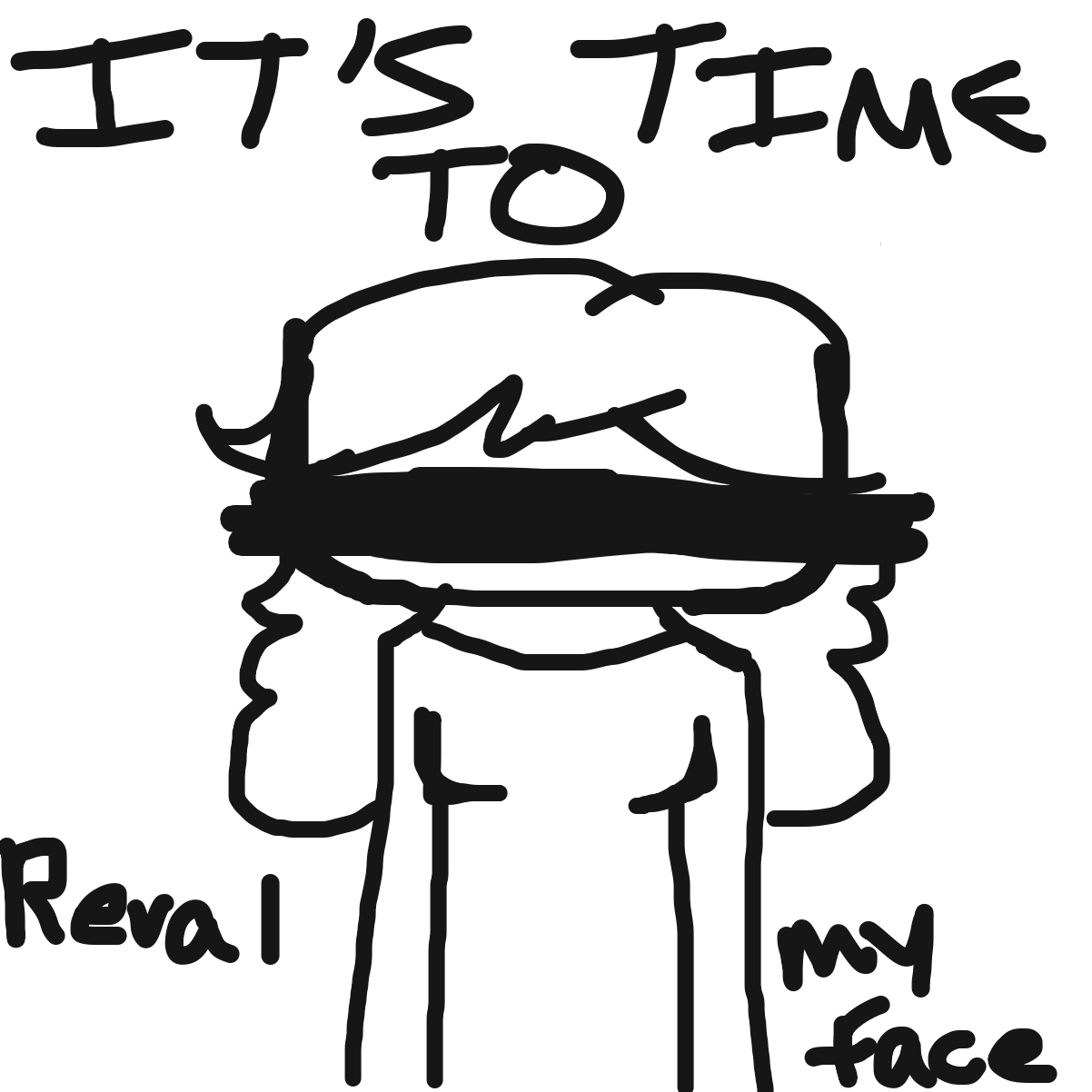 First panel in Face Reveal drawn in our free online drawing game