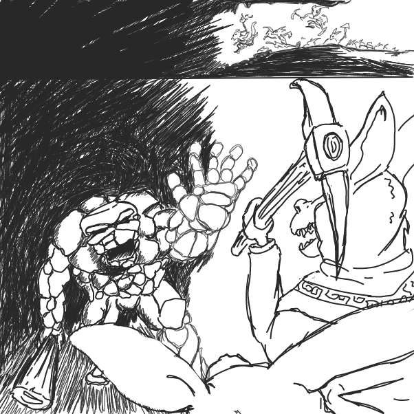 Drawing in Party of Kobolds  by WizardCroissant