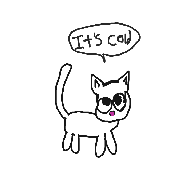 First panel in Cats Of The North drawn in our free online drawing game