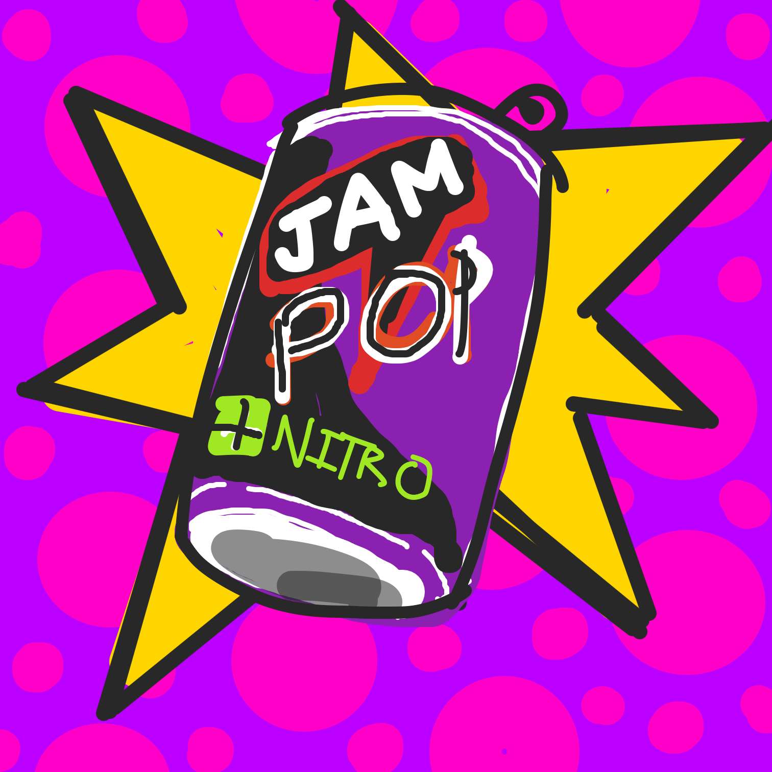 First panel in Jam pop nitro  drawn in our free online drawing game