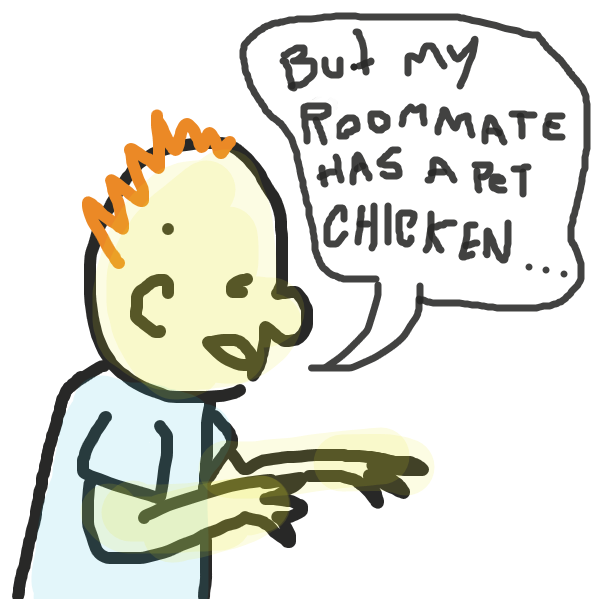 "Last panel: ""I wanted chicken noodle! D:""