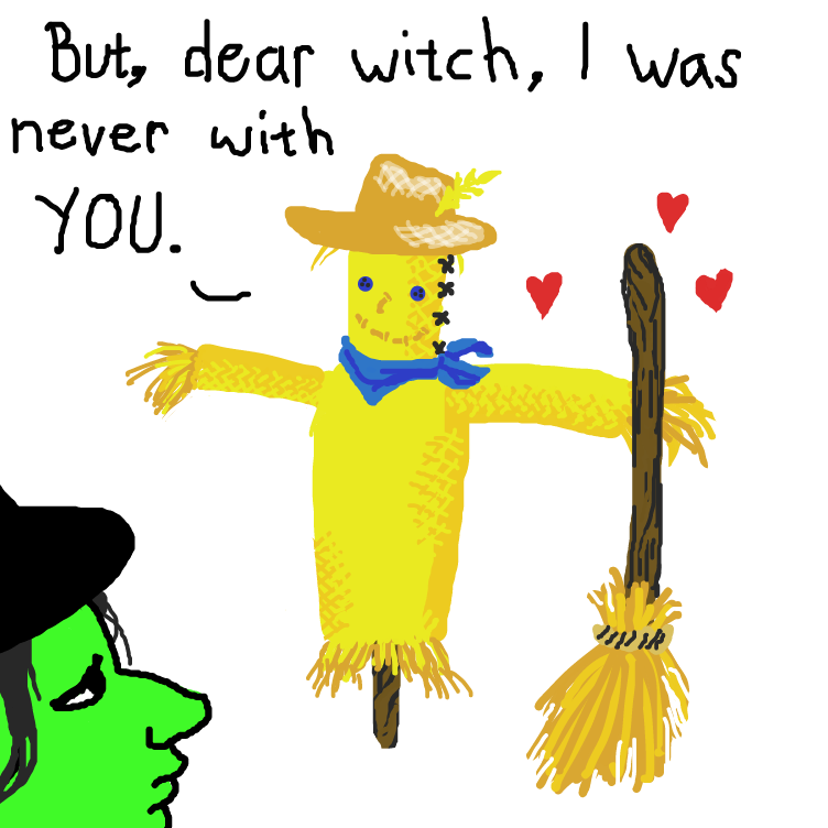 Drawing in Wicked Witch of the West x Scarecrow by Delete