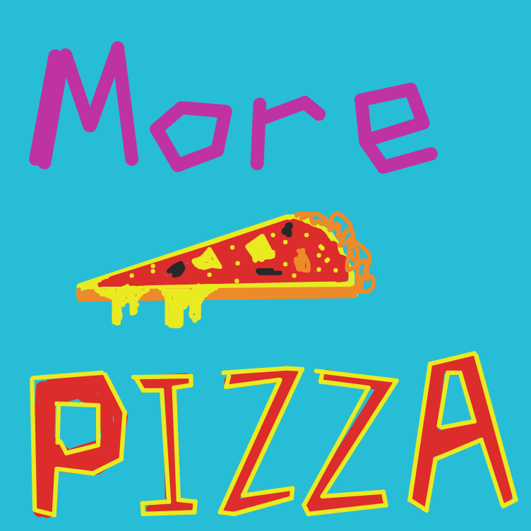 Drawing in Pizza by Allors