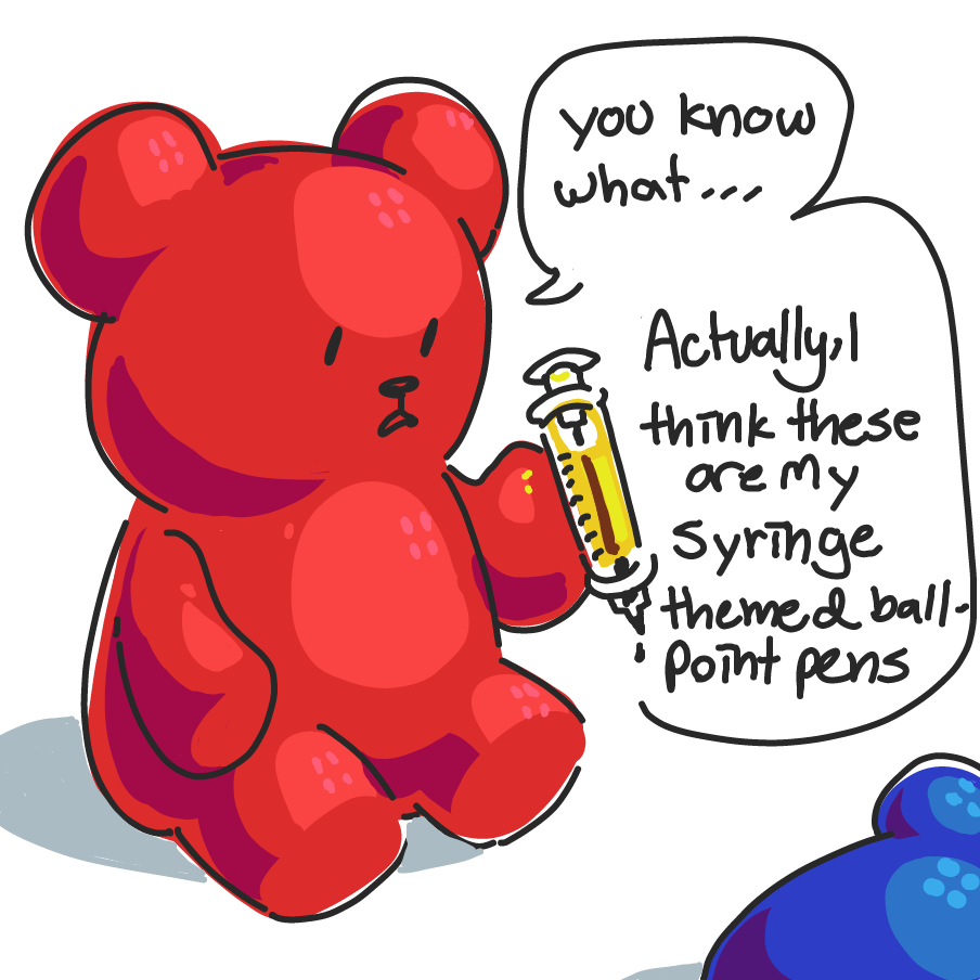 Drawing in Pride Bears by boot