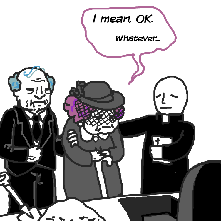 I think u know what to write in the tombstone - Online Drawing Game Comic Strip Panel by Delete