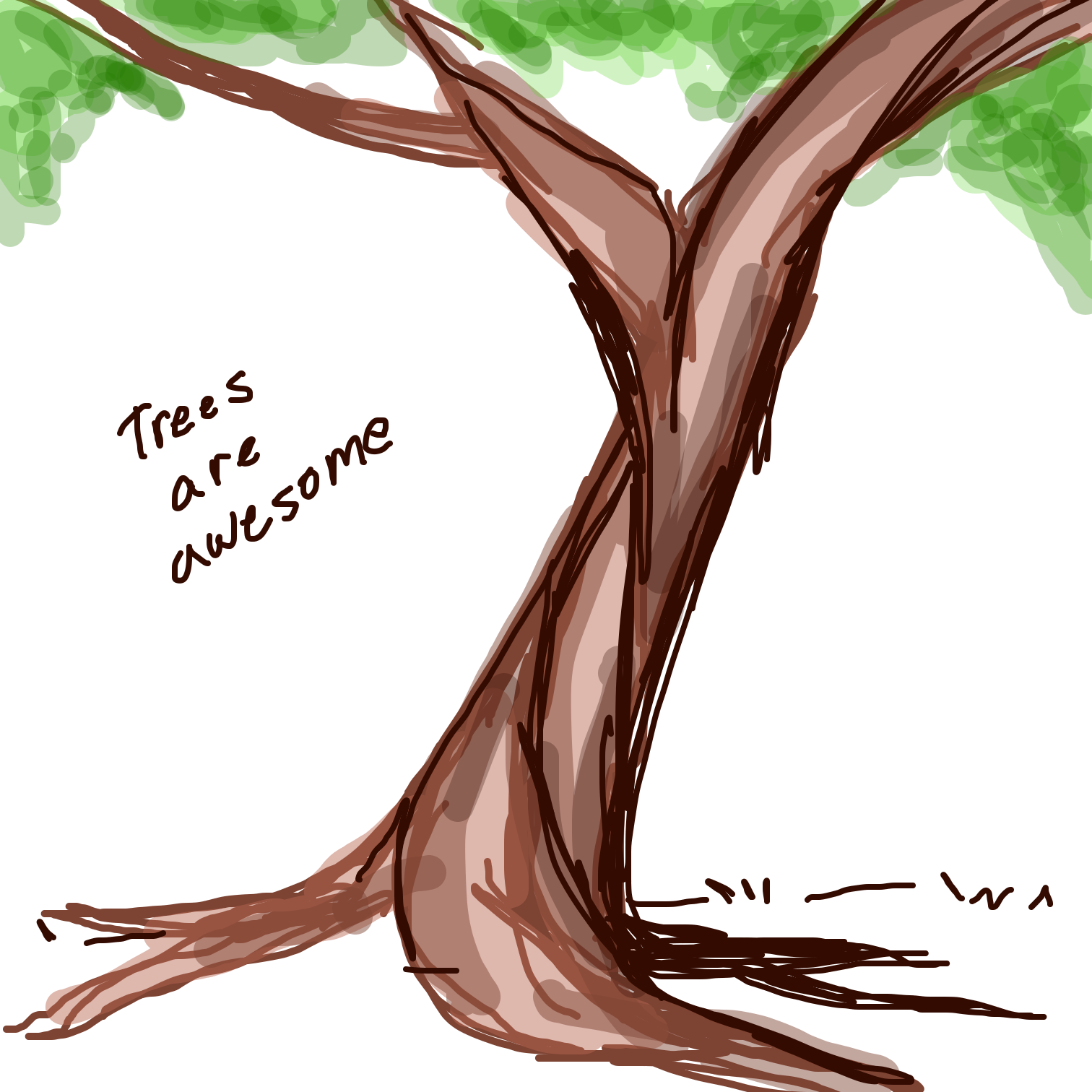 Drawing in Love your trees by Juleefish