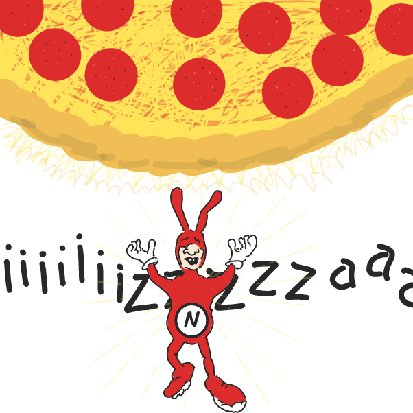 Drawing in Pizza by WizardCroissant