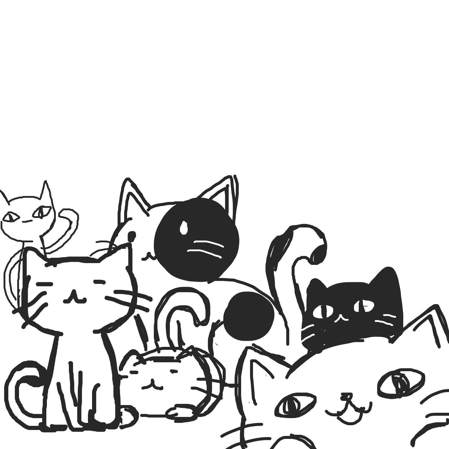 Drawing in Cats by Juleefish