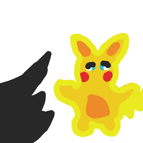 First panel in Pikachu Vs Scary Shadow drawn in our free online drawing game