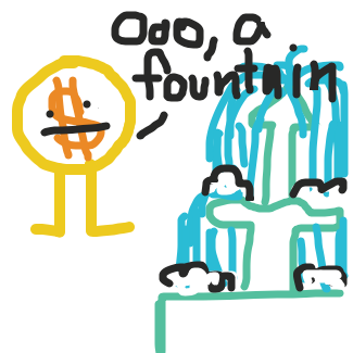 First panel in The Wishing Fountain drawn in our free online drawing game