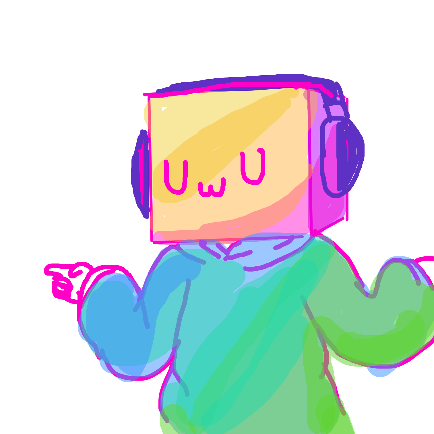 Drawing in The UwU cube by Juleefish