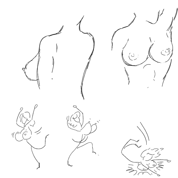 Drawing in Tiddies by WizardCroissant